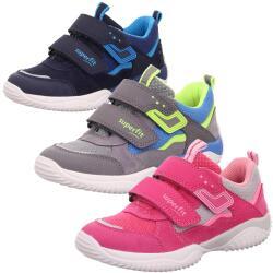 SUPERFIT Kinder Sneaker Halbschuh STORM 06382 Leder Mesh...