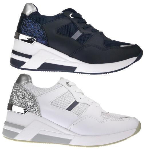 Tom Tailor 8091512 Sneaker Low Cut Schnürer Glitter Keilabsatz Gr.37 43