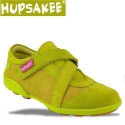 Hupsakee Mädchen Sneaker, grün, Leder, Gr. 26-30