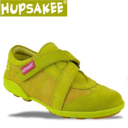Hupsakee Mädchen Sneaker, grün, Leder, Gr. 26-30 26