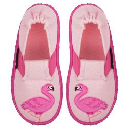 Nanga Flamingo Mädchen Hausschuh Slipperform rosa...