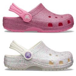 CROCS Kids Classic Glitter Clog 205441 in oyster oder...