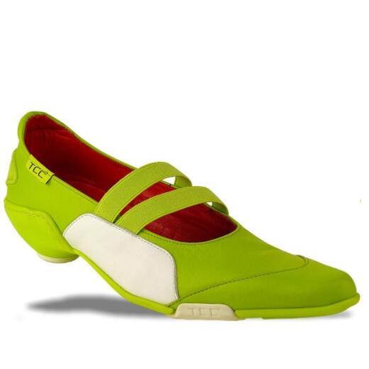 Hupsakee Ballerina, grün, spitze Form, Gr. 37-41 38