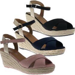 Tom Tailor 8090101 Damen Riemchen Sandalette Keilpumps...