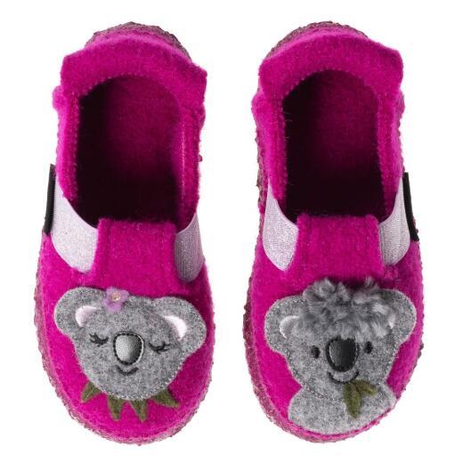 Nanga Koala Babys Mädchen Hausschuh Slipper Wolle Farbe Beere Gr.24-34