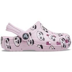 Crocs Kids Classic Panda Print Clog 206999 Ballerina Pink...