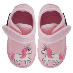 Nanga kleines Einhorn Hausschuh Mädchen Klett rosa...