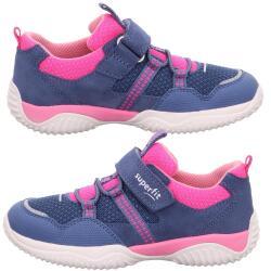 Superfit Mädchen Sneaker Halbschuh STORM 06384 Leder...