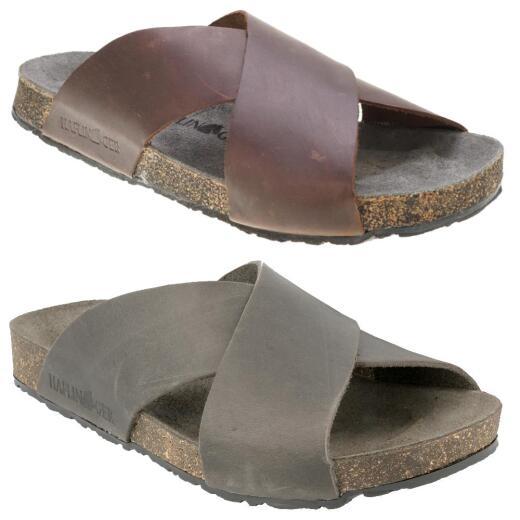 Haflinger Unisex Bio Mio Pantolette Sandale 819412 Leder Lederfussbett Kork Gr.40-48