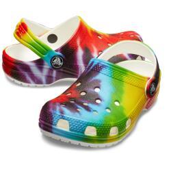Crocs Kids' Classic Tie-Dye Graphic Clog 205451...