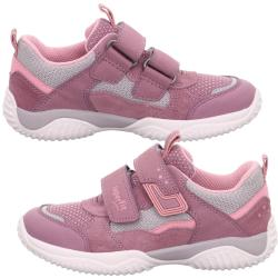 Superfit Mädchen Sneaker Halbschuh STORM 06382 Leder...