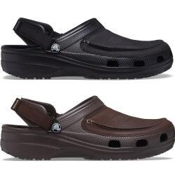 Crocs Mens Yukon Vista II Clogs Kunstlederblatt schwarz...