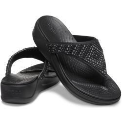 Womens Crocs Monterey Shimmer Wedge Flip 206843...