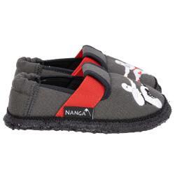 Nanga Ninja Hausschuh Slipperform Ninjakämpfer dunkelgrau Gr.25-35