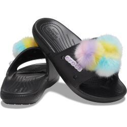 CROCS Classic Fur Sure Slide Pantolette Badelatschen...