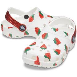 Crocs Kids Classic Food Print Clog 207150 Erdbeeren...