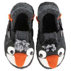 Nanga Fuzzi Pingu Hausschuh Slipperform grau kleiner...