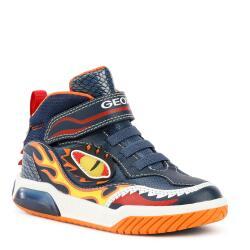 Geox J Inek Boy Mid-Cut Sneaker Blinkschuh Drachen Gr.24-35