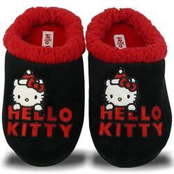HELLO KITTY CARPEL Hausschuhe schwarz rot