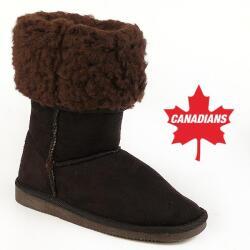 INDIGO kuschelige Boots CANADIANS Stulpe krempelbar 4 Farben Gr.28-35 braun 29