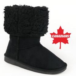 INDIGO kuschelige Boots CANADIANS Stulpe krempelbar 4 Farben Gr.28-35 blau 30
