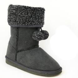 INDIGO kuschelige Boots CANADIANS Stulpe krempelbar 3 Farben Gr.28-35 grau 30
