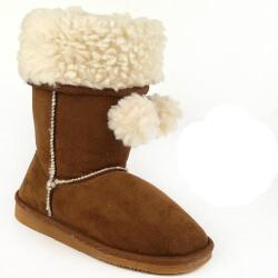 INDIGO kuschelige Boots CANADIANS Stulpe krempelbar 3 Farben Gr.28-35 braun 30