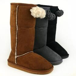 INDIGO kuschelige Boots CANADIANS Stulpe krempelbar 3 Farben Gr.28-35 braun 31