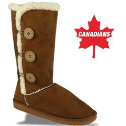 IDANA kuschelige Boots CANADIANS 3 Knöpfe in 3...