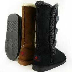 INDIGO kuschelige Boots CANADIANS 3 Knöpfe in 3 Farben Gr.37-42 braun EUR 41
