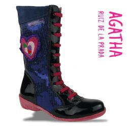 Agatha Ruiz de la Prada Mod.111983 Lederstiefel Pailletten Gr.27-35 pink 27