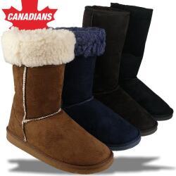 IDANA kuschelige Boots CANADIANS Stulpe krempelbar 4 Farben Gr.36-42 braun EUR 38