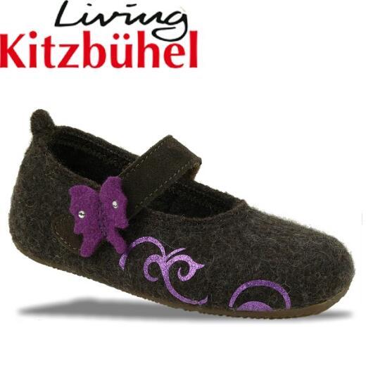 Living Kitzbühel Hausschuh Ballerina Butterfly mocca Gr.23-35 23