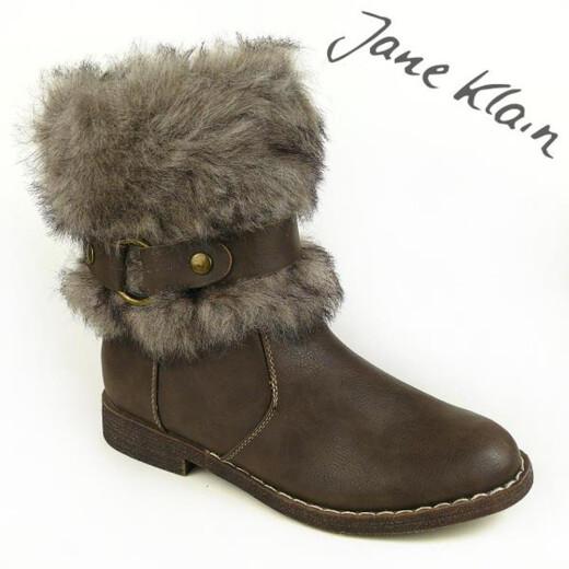 Jane Klain by IDANA Stiefelette Fellstulpe 3 Farben Gr.37-42 braun EUR 40