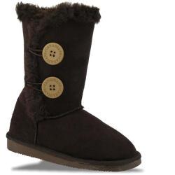 INDIGO kuschelige Boots CANADIANS 2 Knöpfe in 3 Farben Gr.28-35 braun 30