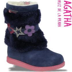 Agatha Ruiz de la Prada dick gefütterte Stiefel Fellstulpe Gr.24-30